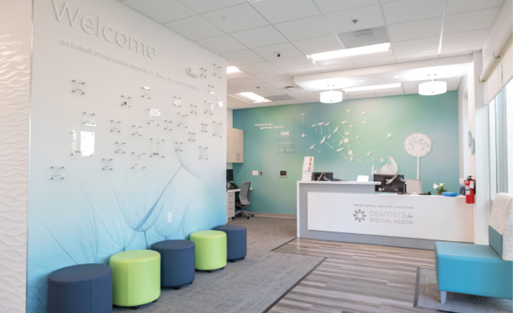 The reception area at the Pacific Dental Services Foundation Dentists for Special Needs clinic in Phoenix, Arizona
